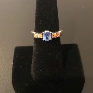 Jewelry - Himalayan Kyanite and Songea Yellow Sapphire Ring